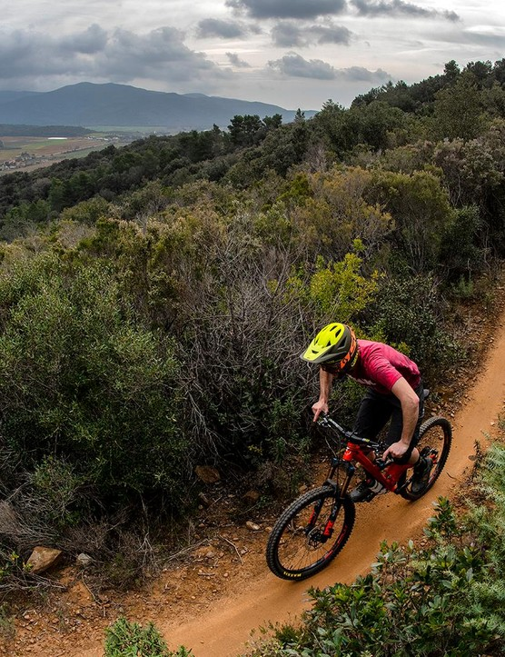 Punta Ala's got everything from flowy singletrack to gnarly descents. It's the perfect testing ground for a new trail bike