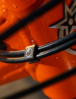 Neat details include Orange's own cable clips to keep things tidy