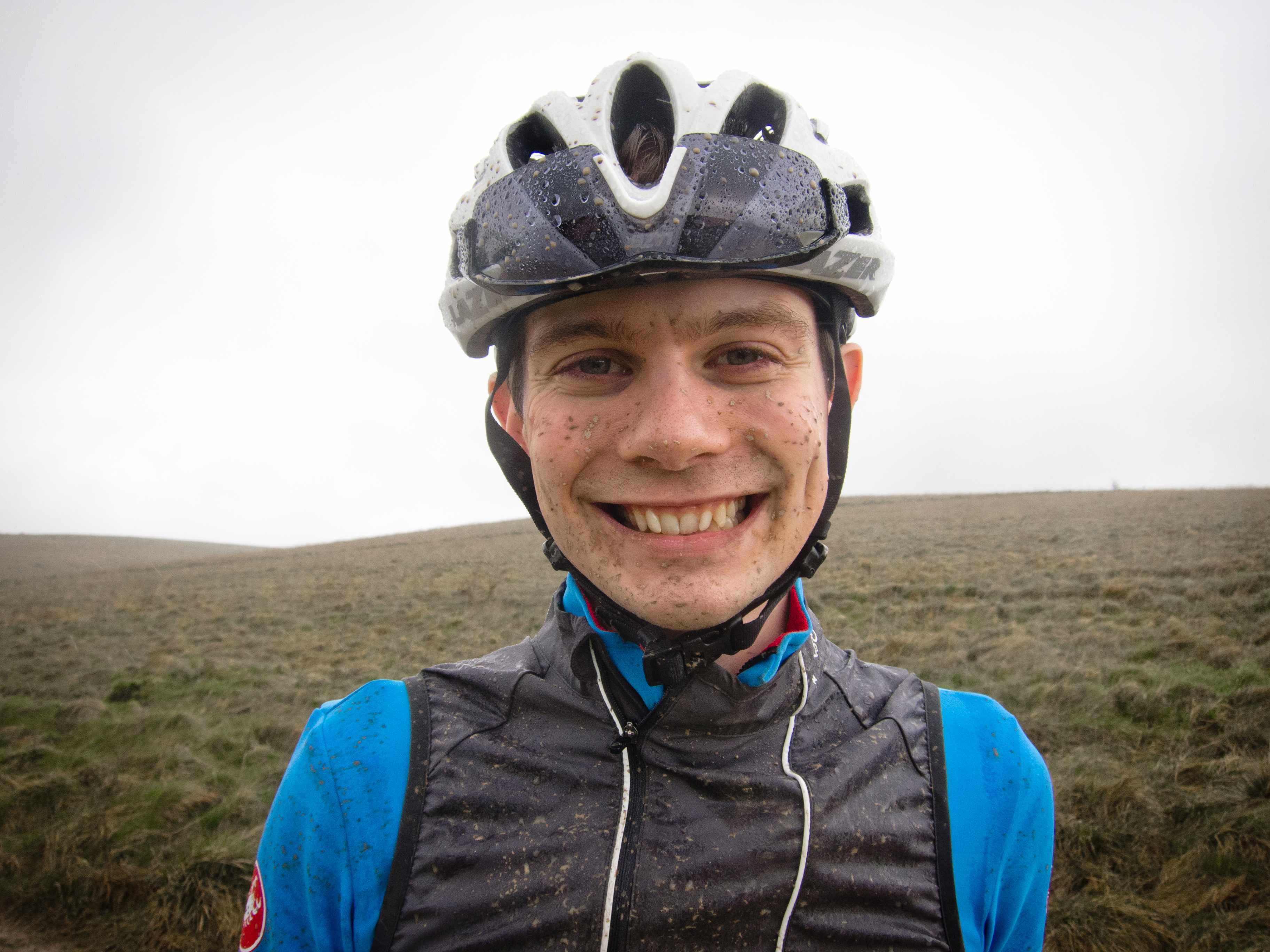 Muddy cyclist Matthew Allen