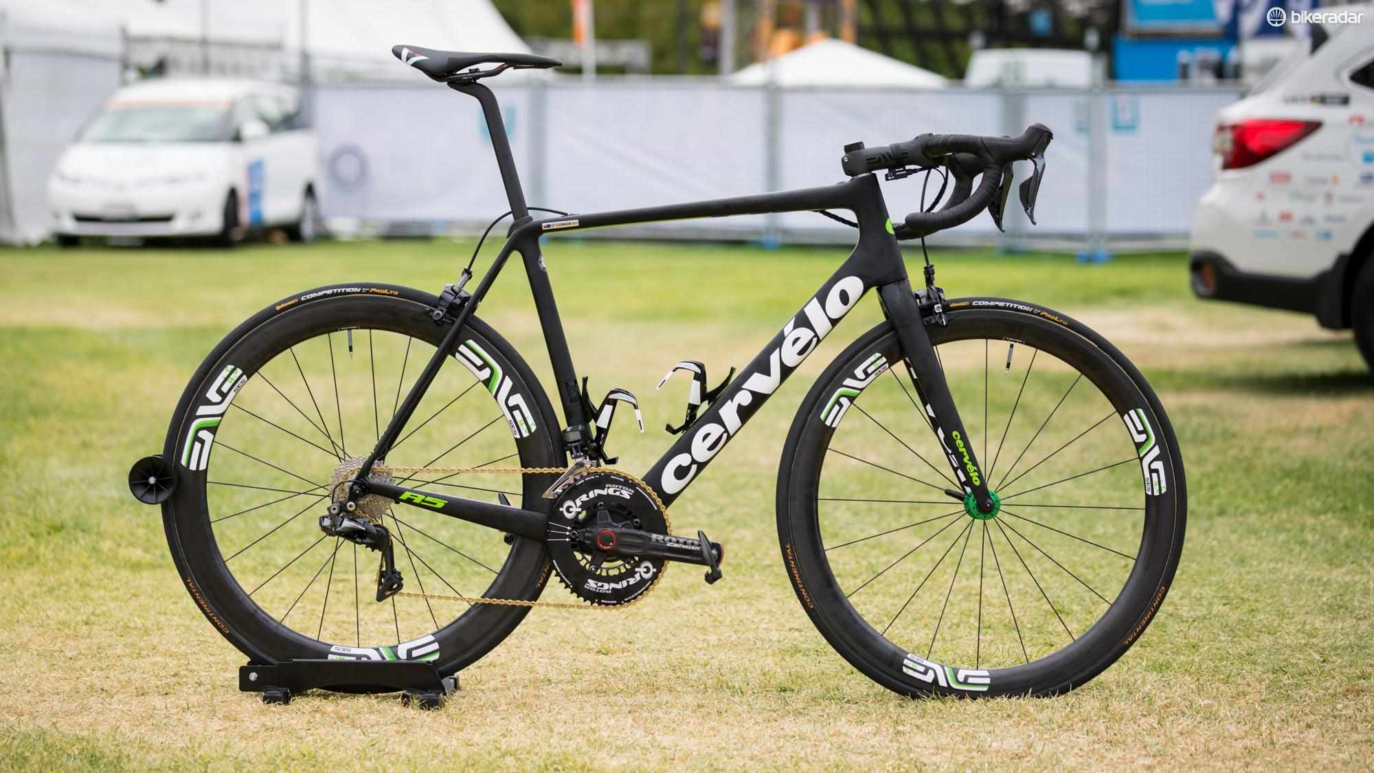 Ben O'Connor's Cervelo R5 race bike at the 2018 Tour Down Under
