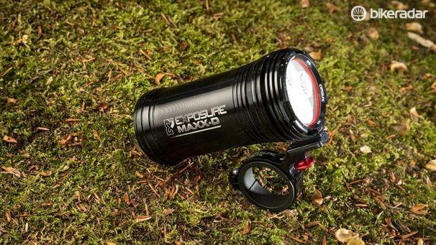 front bike light on grass