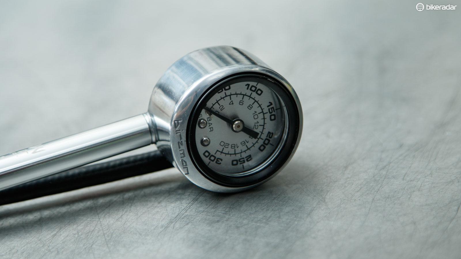 chock pump pressure gauge