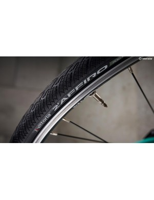Vittoria Zaffiro tyres and Tec wheels are basic but do the job