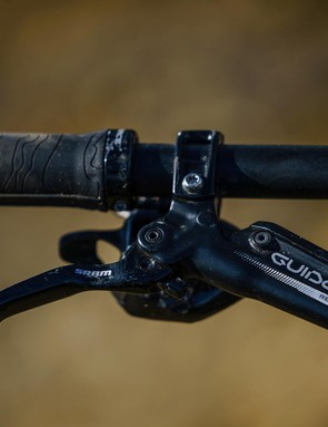 The Guide RE brakes from SRAM offer loads of easy to control power and felt consistent throughout testing