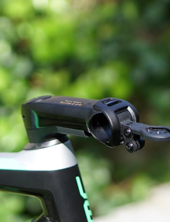 The dual Garmin/GoPro mount is a clean solution