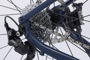 At this price we can forgive the non-series Shimano RS510 chainset and Microshift cassette