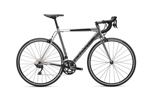Side view Cannondale CAAD Optimo 105 white background