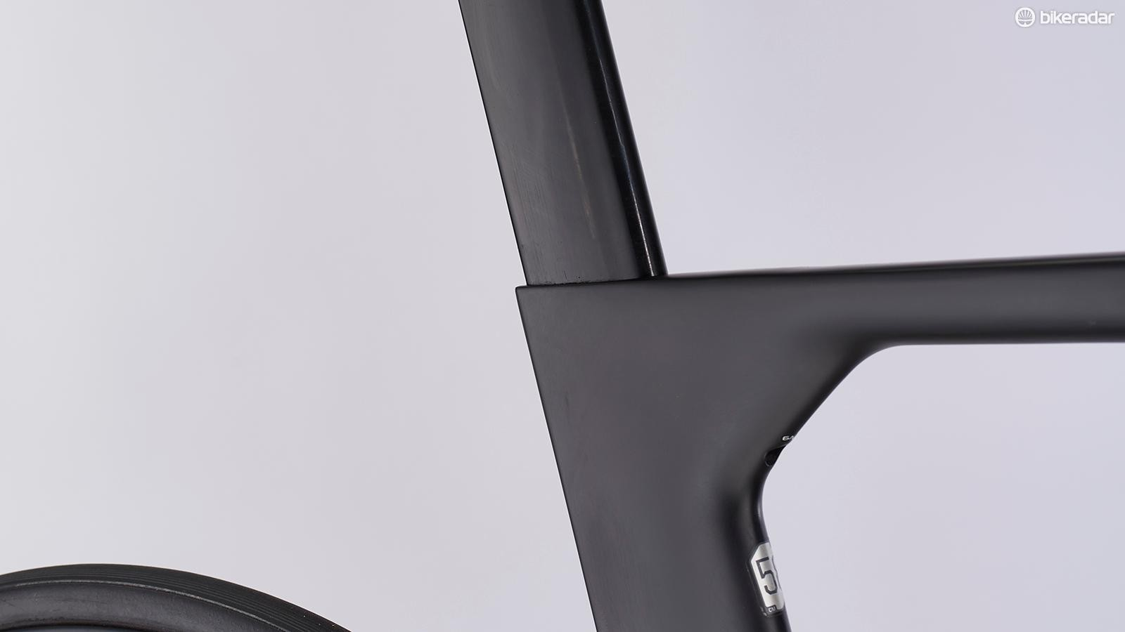 The top tube seat tube junction and the seatpost itself were all designed with the rider in situ