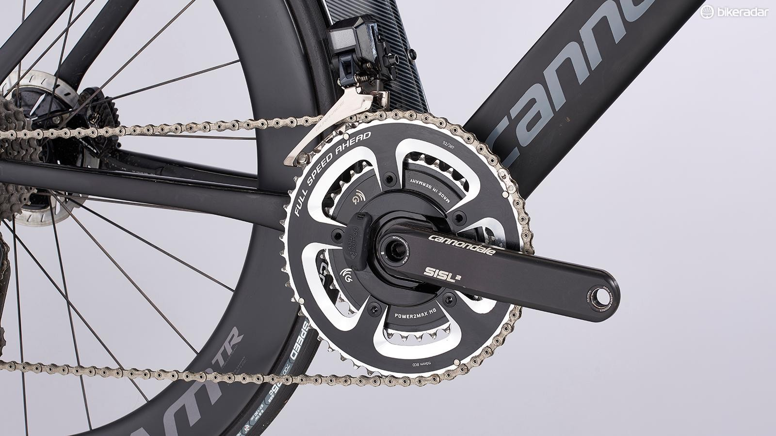 Shimano's flagship Dura-Ace Di2 group delivers the drivetrain and braking