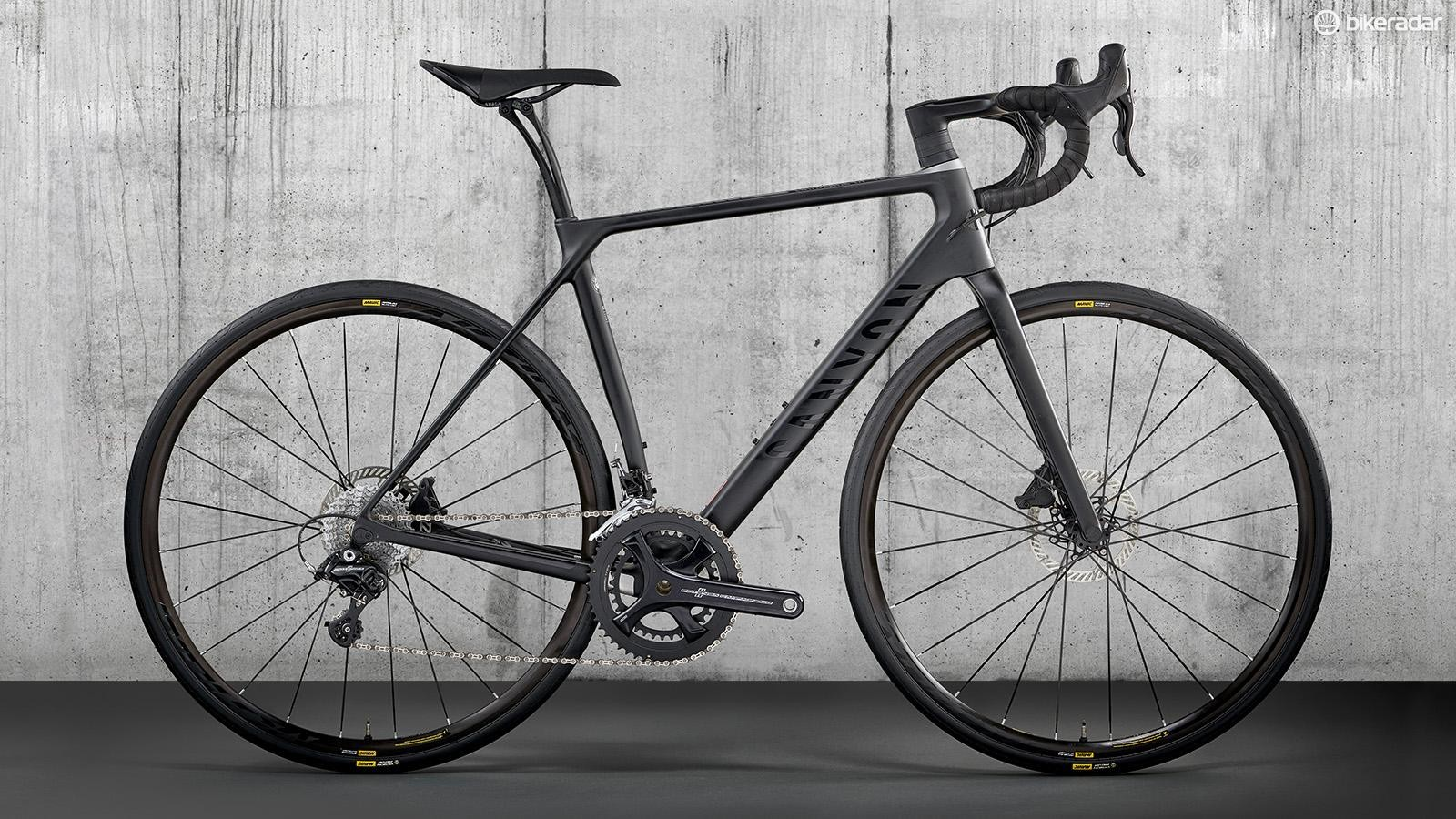 Its carbon frame and full-carbon fork are paired with an all-carbon cockpit