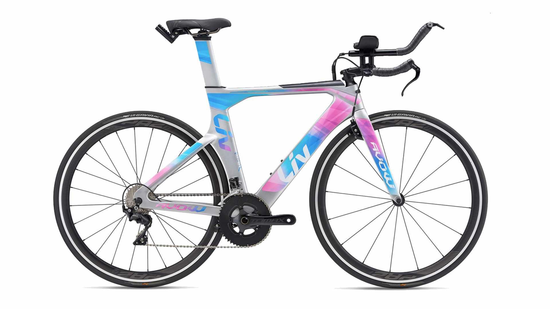 Blue, pink and silver triathlon