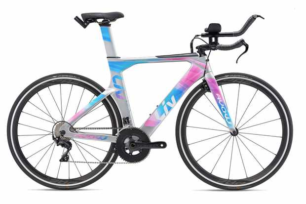 Blue, pink and silver triathlon