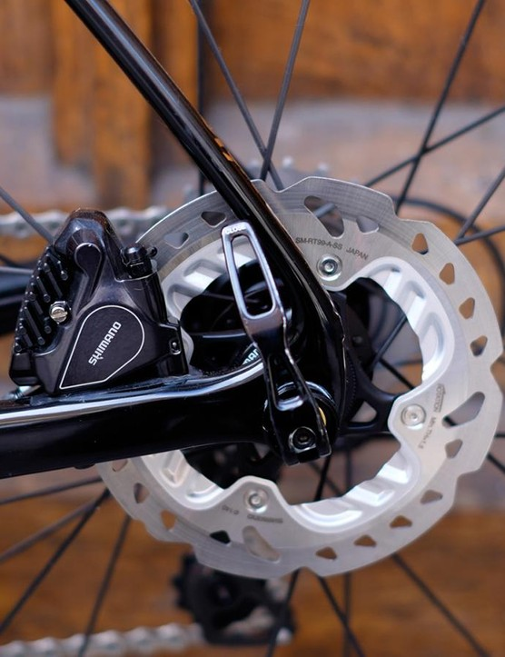 Shimano's BR-RS805 hydraulic discs are superb