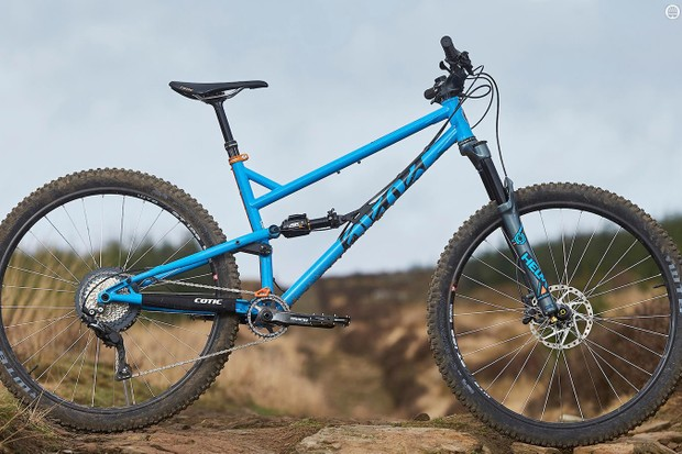 The Cotic FlareMax has 120mm of travel built in to its steel frame