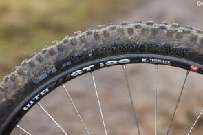 WTB tyres aren't a common site — here they're mounted to wide WTB rims