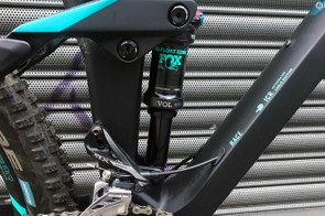 140mm of rear travel is controlled by the Fox Float DPS Evol shock