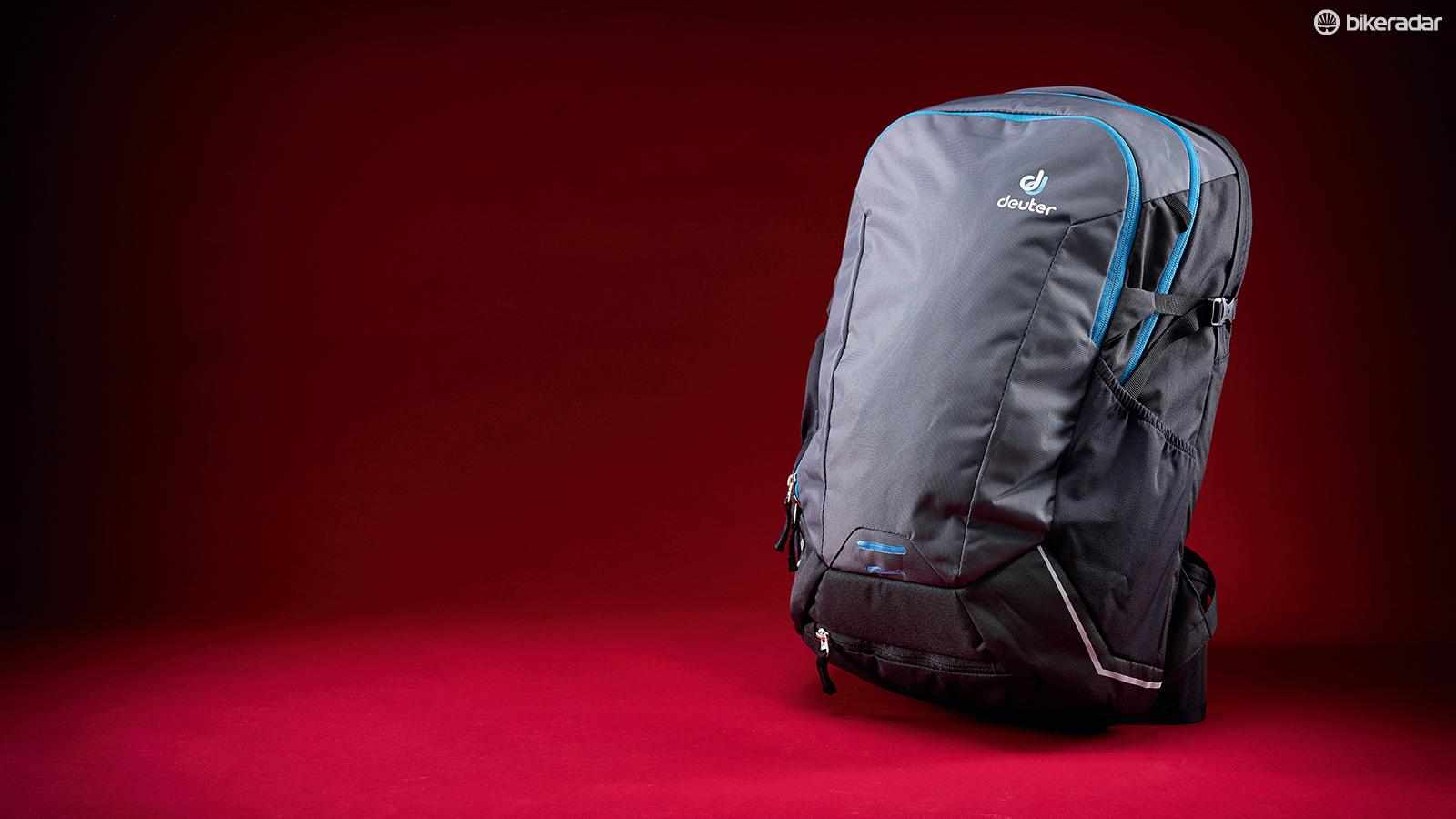This has pretty much all you need in a large-capacity, cycling-specific backpack