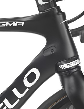 The suspension unit itself is integrated into the headtube