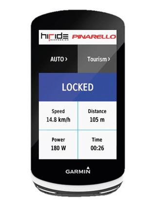 The system can be controlled via a Garmin, an app or on the bike itself