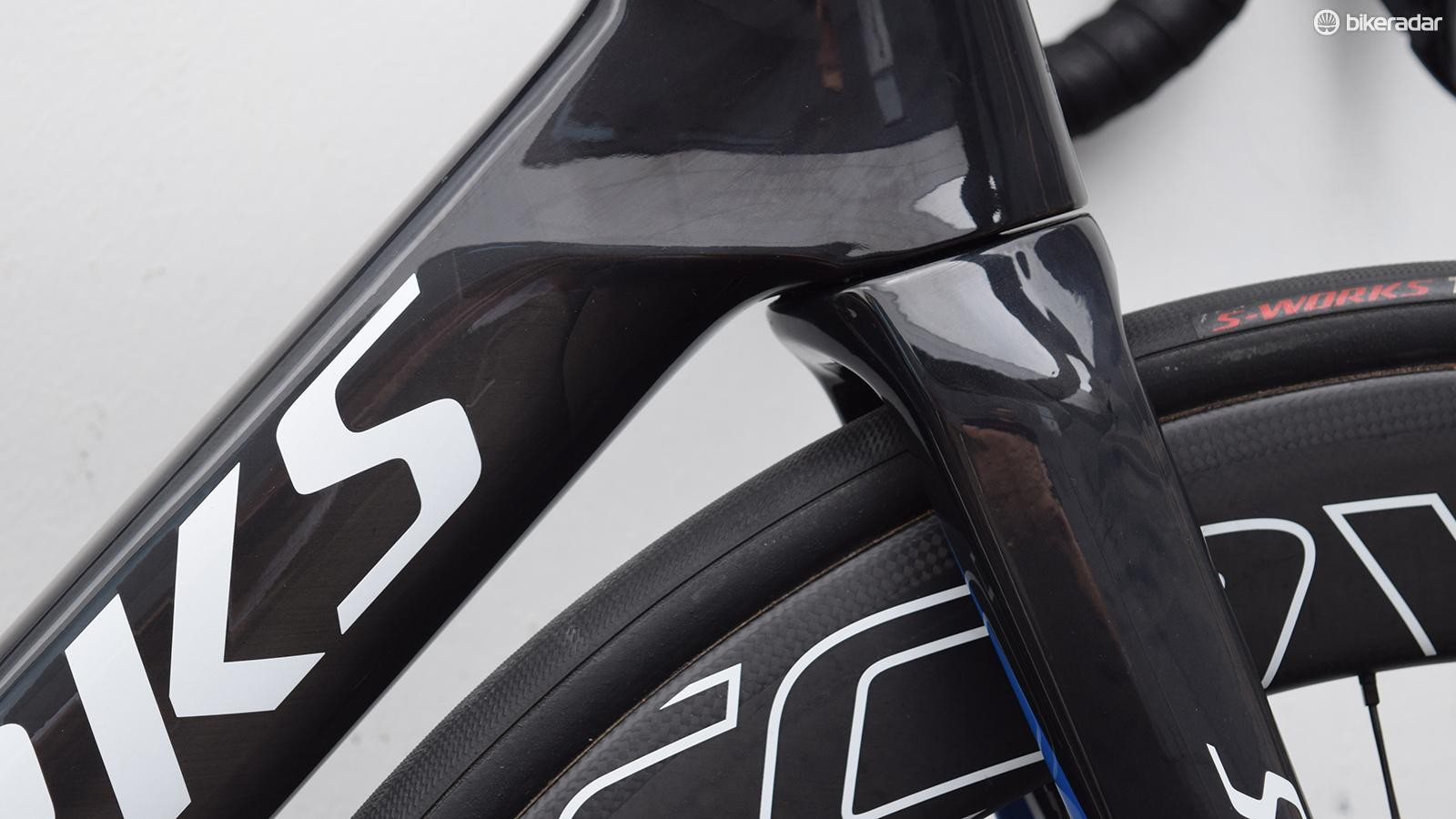 Several new aero-focused framesets feature a similar swoop on the down tube away from the fork crown