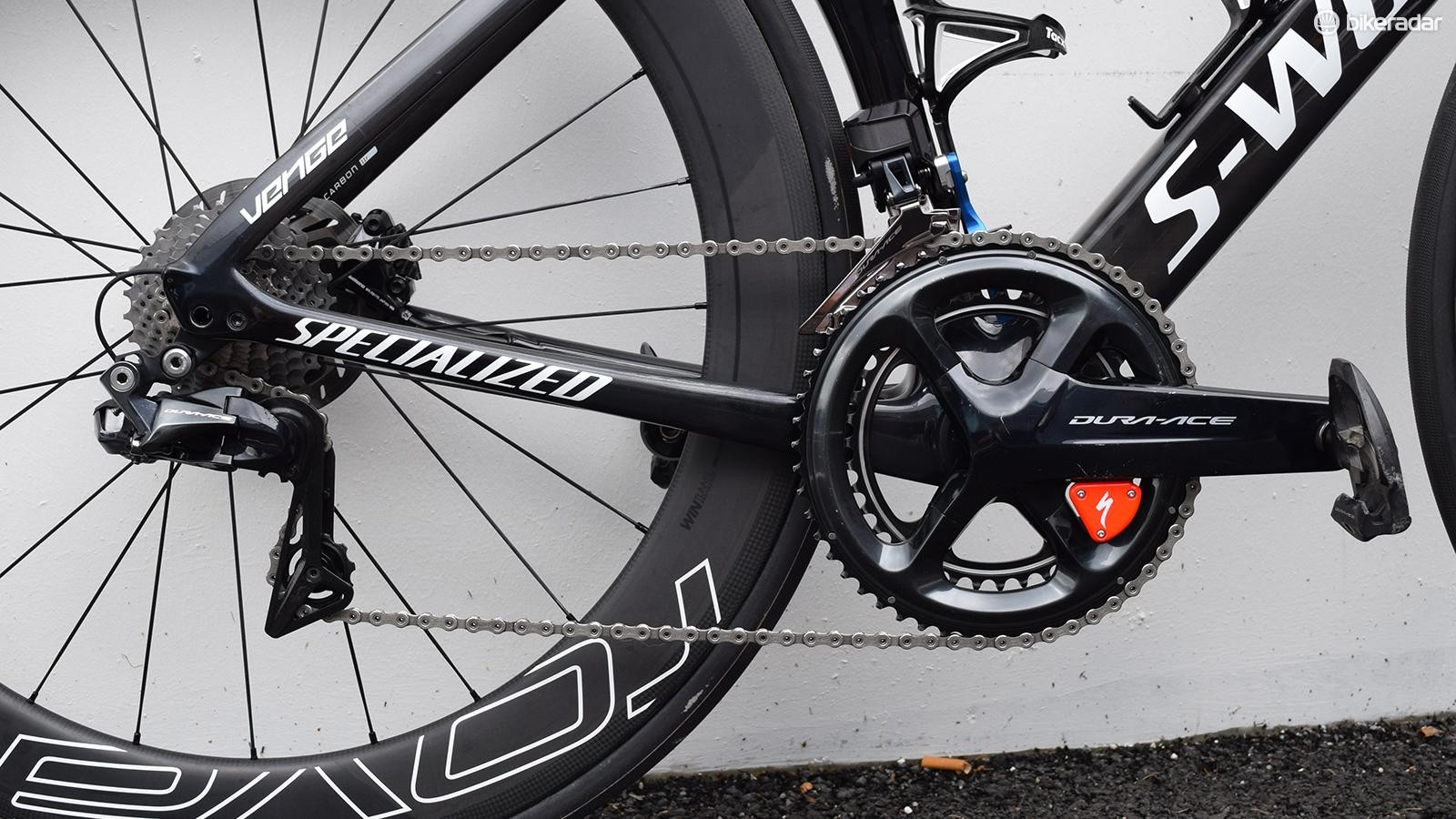 A look at Gaviria's Shimano drivetrain