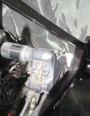 The rear dropouts mount onto a 'floating' axle fitting, allowing the frame to move safely if it's struck from the side