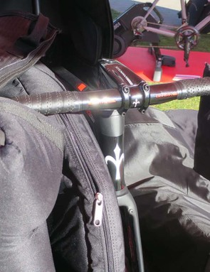 You don't even need to turn your bars when packing your bike into the Borson