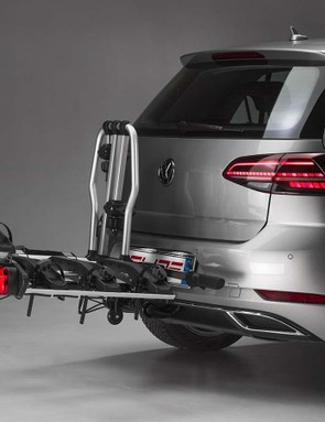 The Elite Monte rack is available in two- or three-bike options, and you can add another bike with an extension kit