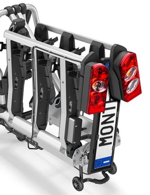 Once removed, the Elite Monte folds in half and rolls on trolley wheels, making it easy to move and store