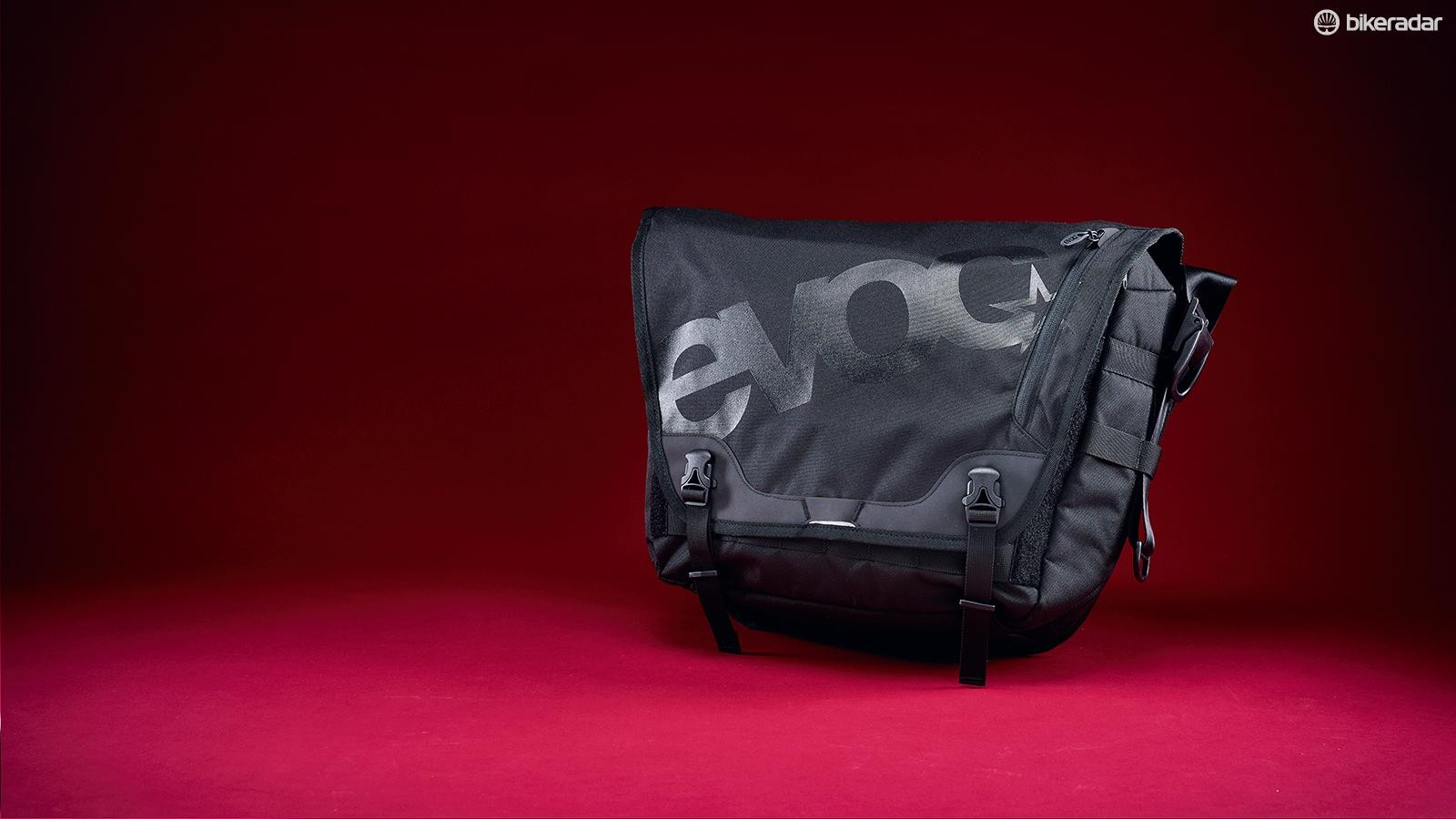 The tough polyurethane bag has a water-resistant coating