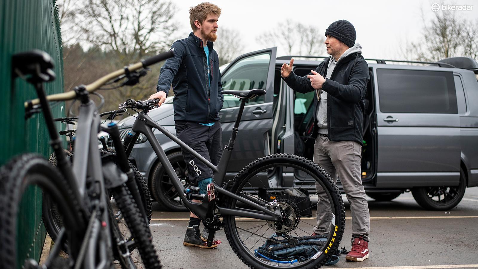 Owen Pemberton is at the cutting edge of size-specific bike design. A Druid designed to fit me (XL) and him (Medium) have similar front-to-rear proportions