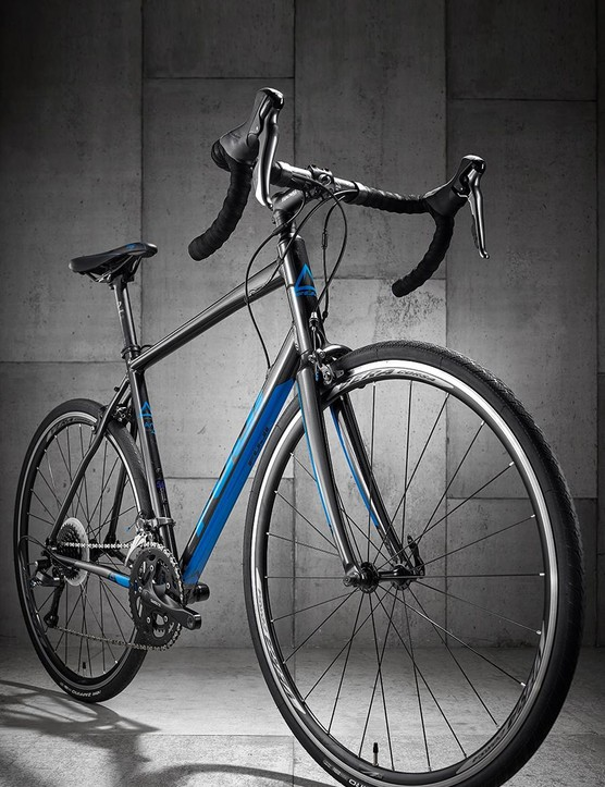 The bike has a geometry more suited to endurance and long-distance riding