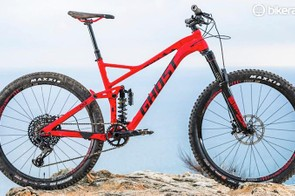 The Ghost SL AMR is a playful trail bike with a coil shock
