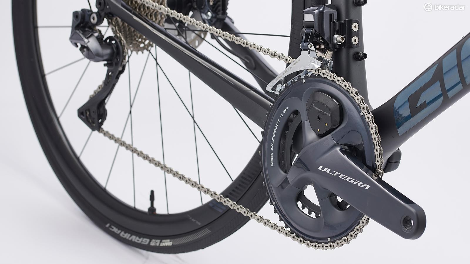 Shimano Ultegra with a Giant Power Pro double-sided power meter included