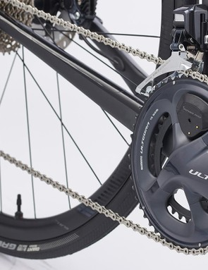 Shimano Ultegra chainset fitted with a Giant Power Pro power meter