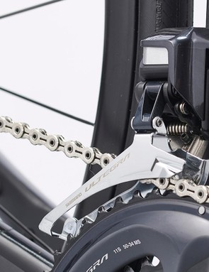 Shimano Ultegra Di2 groupset with a 52/36 chainset