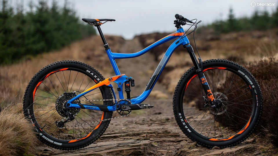 174af54b593 The Giant Trance is a mid-travel trail bike with some burly components