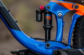 Fox's DPX2 shock is smooth and adjustable, with a compression switch allowing for a lock-out