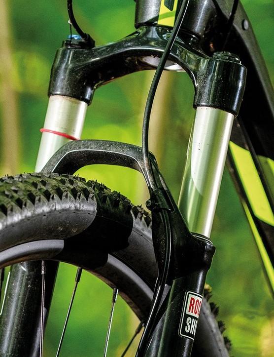 RockShox's Recon Gold fork is a budget unit often seen on sub-£1k bikes
