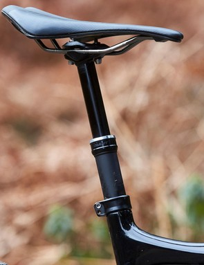 The specced 100mm dropper isn't enough - but the 150mm we tried fitted fine