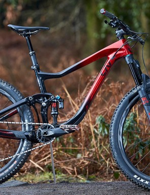 The women's specific Liv Intrigue is our choice for women's trail bike of the year 2019