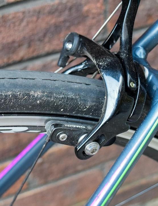 Tektro brakes provide adequate but not amazing stopping power