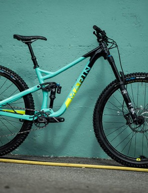 The better spec'd model in the range, the Alpine Trail 8 is sprung with Fox Performance kit and driven forward by Sram's GX Eagle
