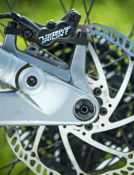 Tektro's 4 piston Slate T4 brakes take care of stopping