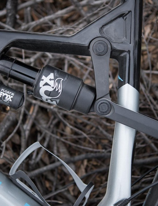 The extra link mounted to the top tube has increased the bike's stiffness