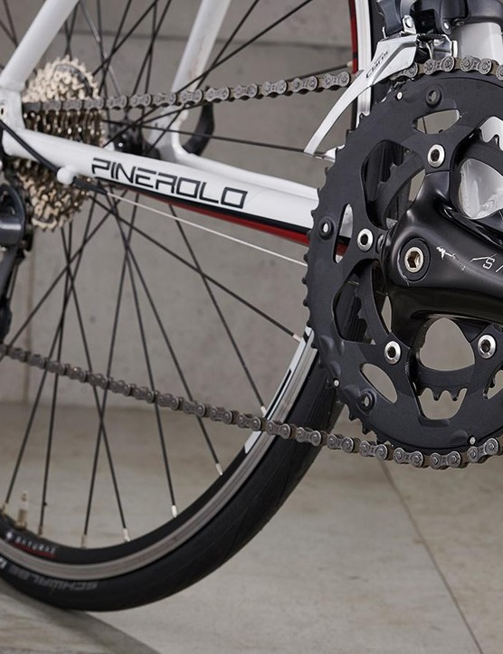 Saturae's compact chainset shifted as well as Shimano's Claris