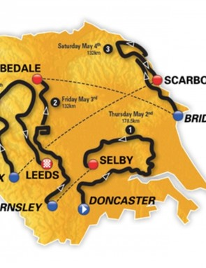 The Men's Tour de Yorkshire takes in all four corners of the county, over 617.5km