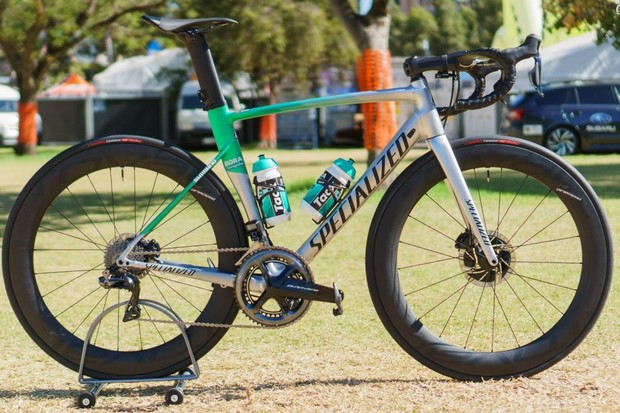 Peter Sagan's Specialized Allez Sprint alloy race bike
