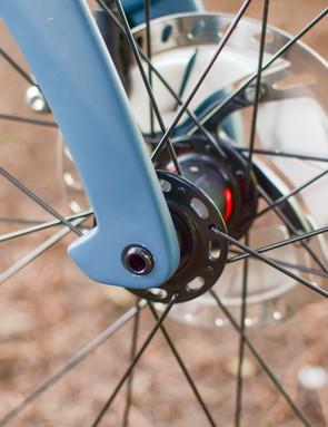 Aero protrusion on Pinarello Grevil fork