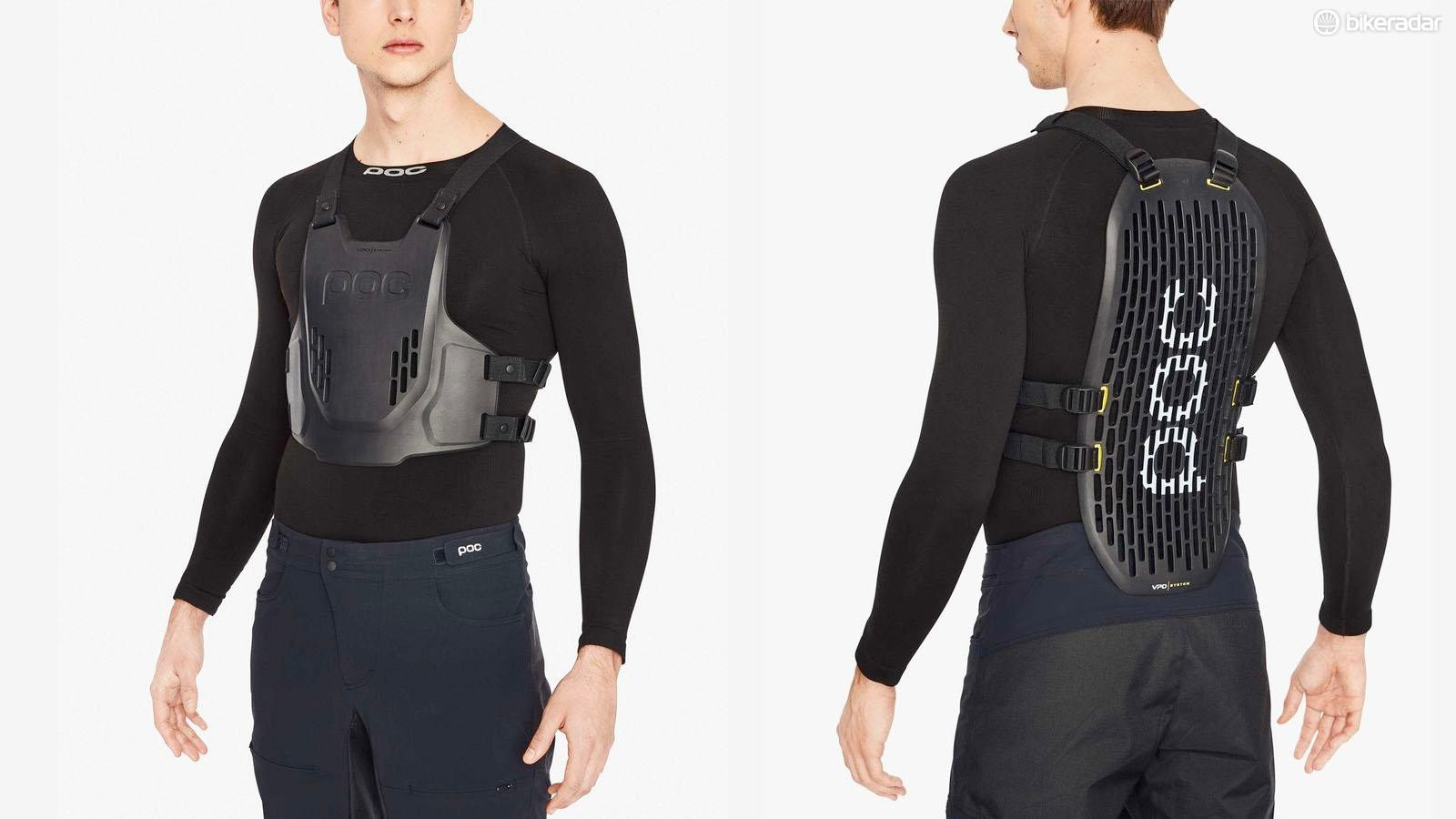 POC says the VPD Torso system uses body heat to mould to your shape